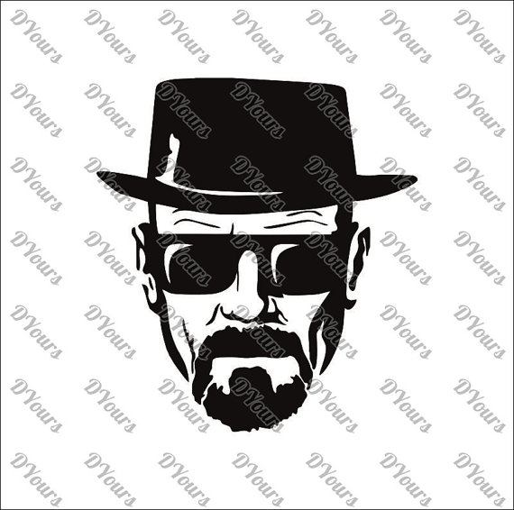 Breaking Bad Walter White Template - svg cdr ai pdf files - Walter White Clipart Files  for Laser Cutting Printing CNC Engraving Clipart