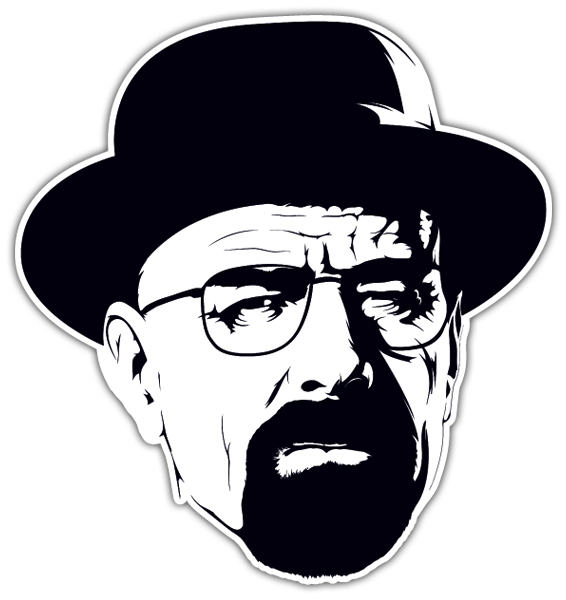 Car u0026 Motorbike Stickers: Breaking Bad Walter White hat