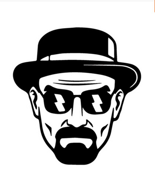 Heisenberg Vinil Çıkartması-Walter Beyaz Breaking Bad Sticker Araba Pencere  Tampon-14 Cm X