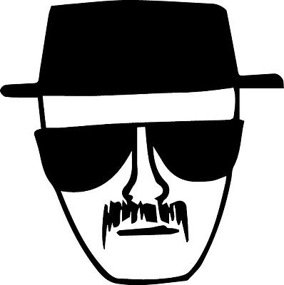Sticker Heisenberg Walter White Breaking Bad AMC TV show Decal
