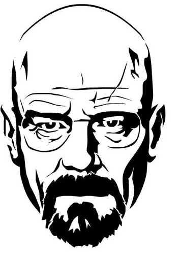 Walter White Stencil By Funksoulfather On DeviantART