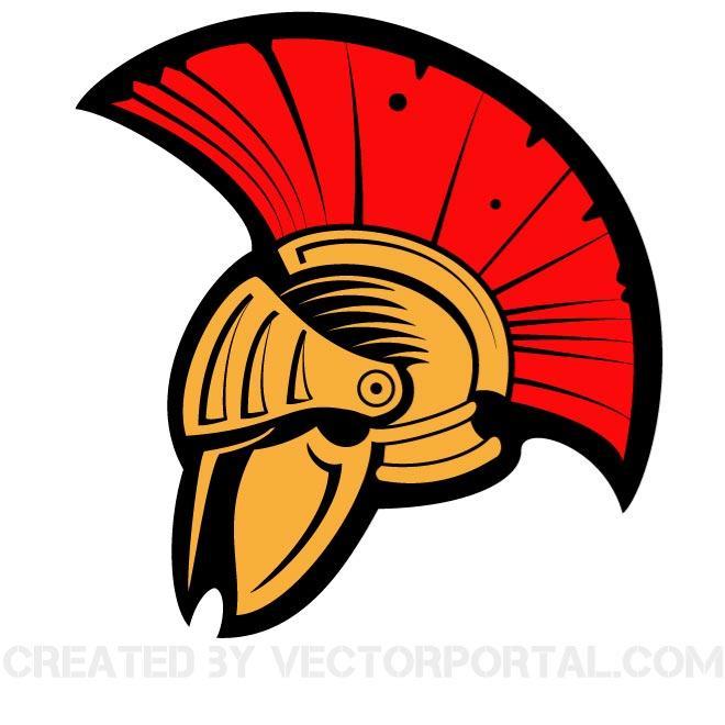 Warrior Helmet Clipart #1