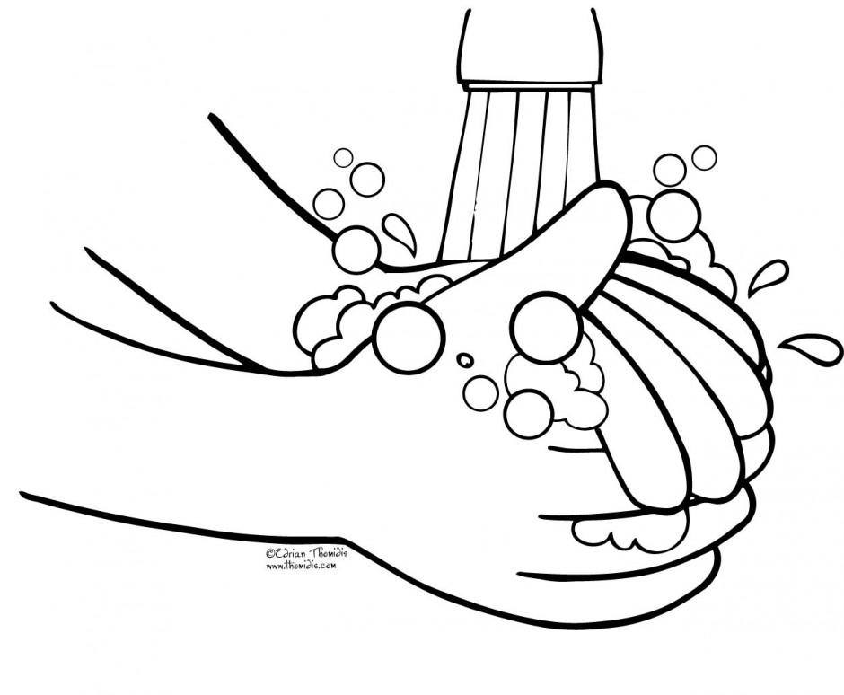 Wash hands clip art black and white - ClipartFox