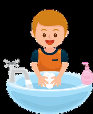 Washing Hands: Get Away Bacteria | Clipart