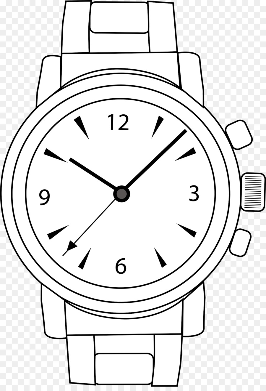 Analog Watch Pocket Watch Clip Art - Cliparts Watch Strap
