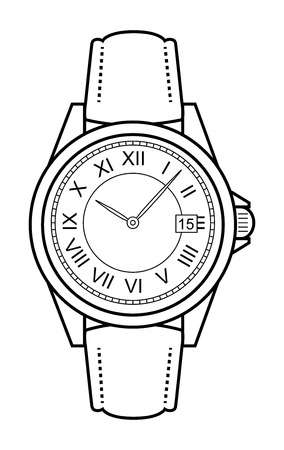 Stylish classic luxury mechan - Watch Clipart