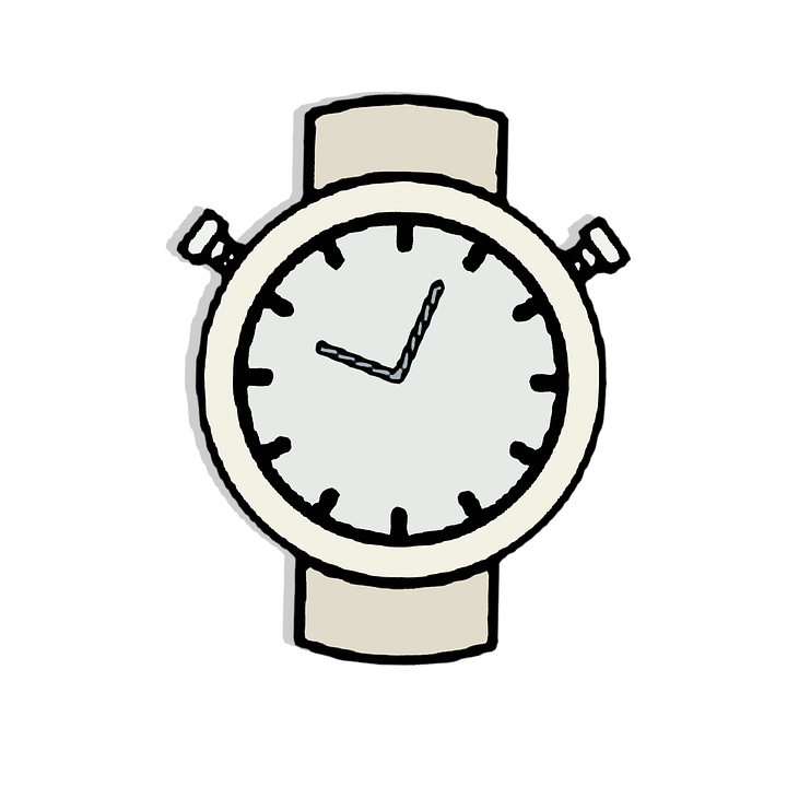 Watch Clock Clipart Vector Sticker Gray