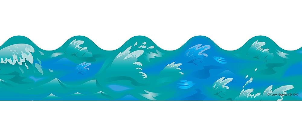 water waves border clipart