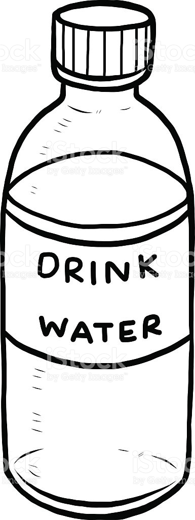 Drink Water Clipart Black And White.
