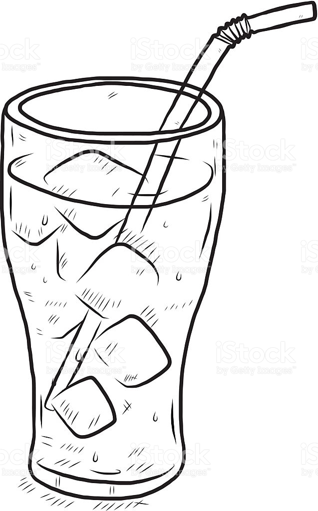 glass of cool water royalty-free glass of cool water stock vector art u0026amp;