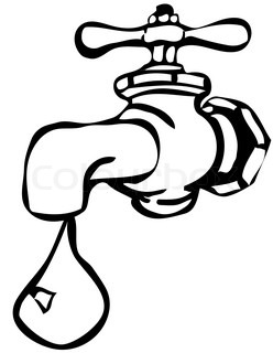 water tap clipart black and white 2