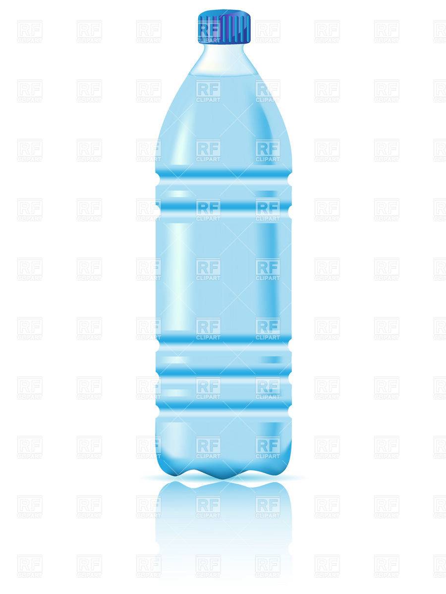 Water In A Plastic Bottle Download Royalty Free Vector Clipart Eps