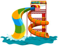 Water slide at the park Royalty Free Stock Image