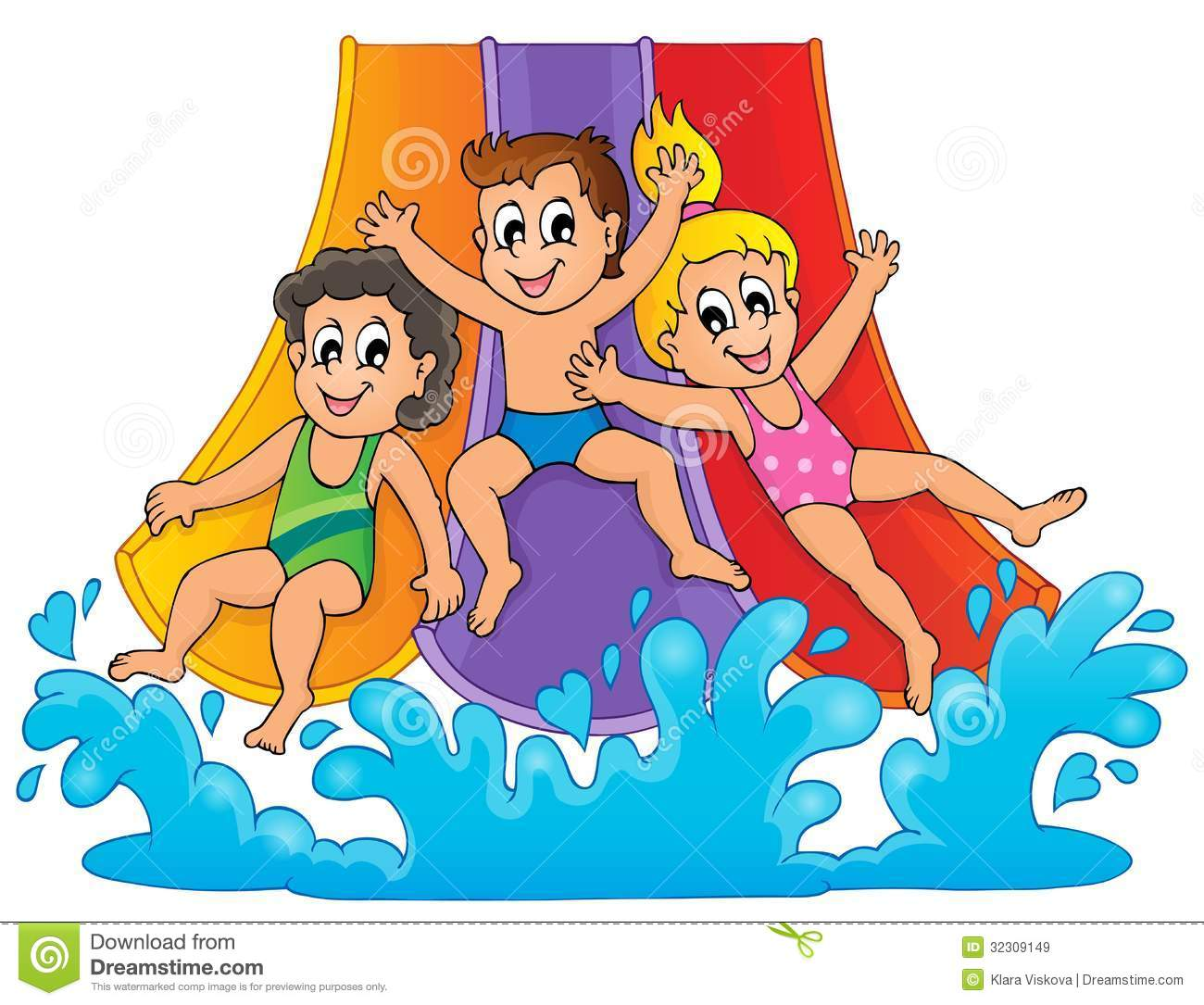 Water Slide Clipart-hdclipart - Water Slide Clipart