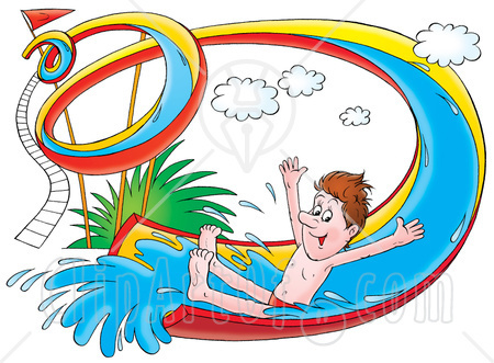 Water Slide Clip Art #12685