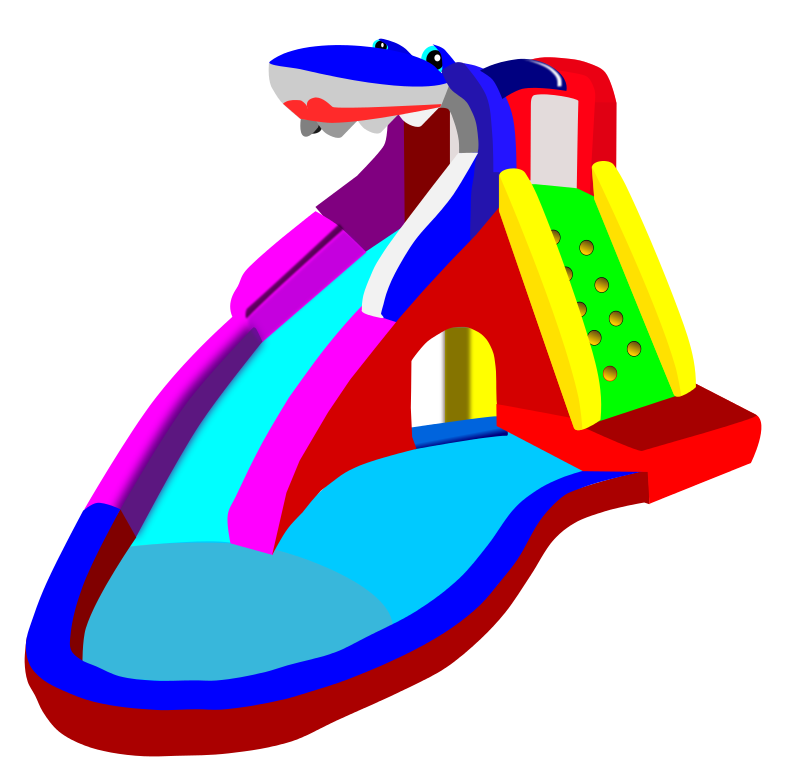 Water Slide Clipart #1
