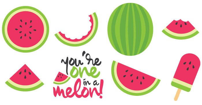 Celebrate the deliciousness of summer with free watermelon cut files and  PNG clip art! Nine