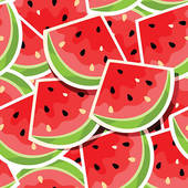 . ClipartLook.com Seamless background with watermelon