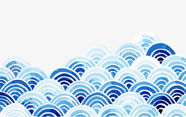 blue waves, Waves, Blue, Chinese Style PNG Image and Clipart
