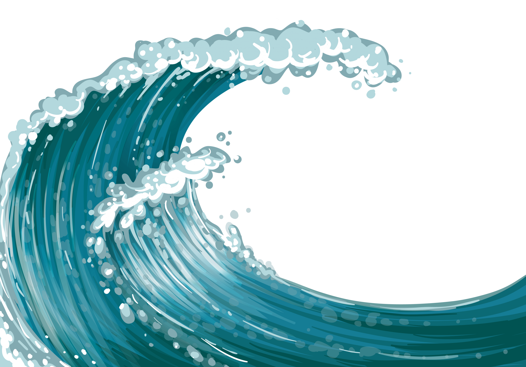 fish in the waves clipart #12