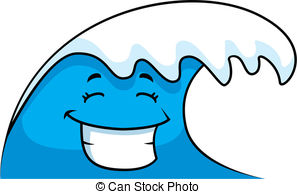 . hdclipartall.com Wave Smiling - A cartoon ocean wave smiling and happy.