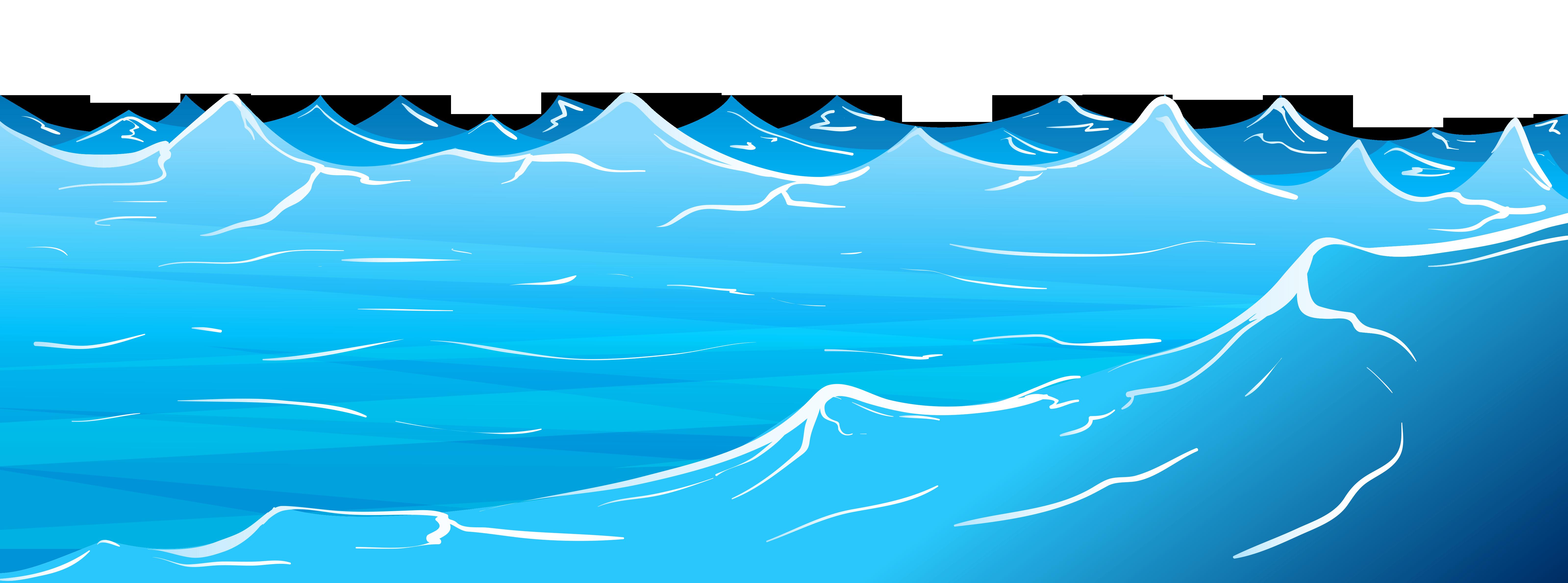 Waves ocean water clipart