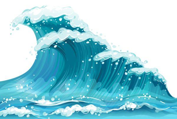 Waves on ocean waves clip art .