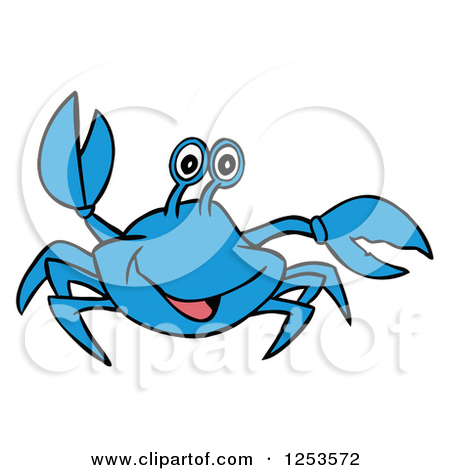 Waving Blue Crab by LaffToon