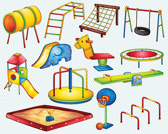 We Take Turns On On The Playground Clipart