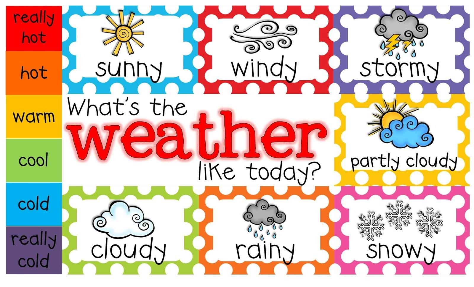 Weather Clipart For Teachers