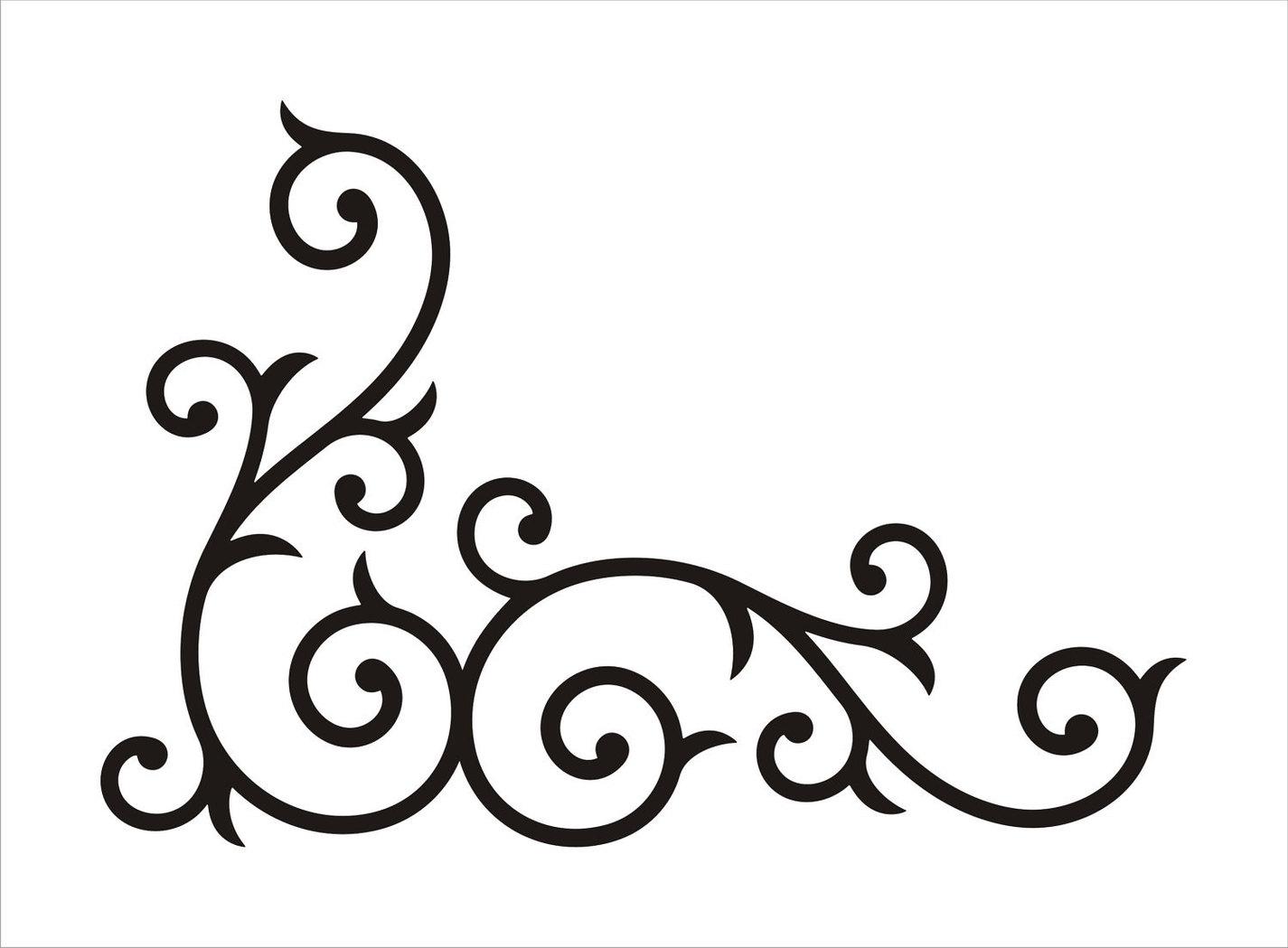 ... Wedding corner swirl clip art at vector clip art image - Clipartix ...