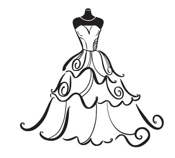 Wedding Dress Clipart Free