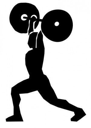 Weight Lifting clip art Free vector in Open office drawing svg