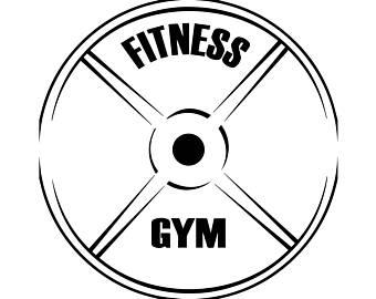 Fitness Center Gym Plate Logo Bodybuilder Exercise Discipline Strong.SVG  .EPS .PNG Vector