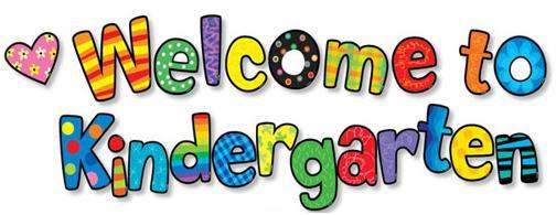 welcome to kindergarten clipart
