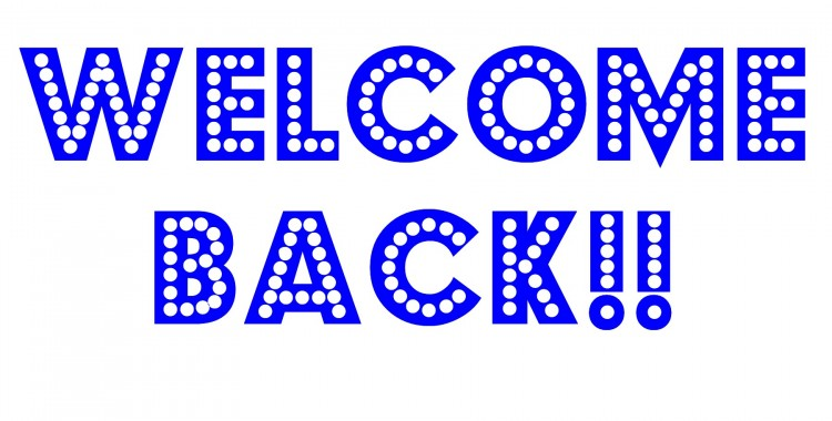 Welcome Back Blue Facebook Cover Picture
