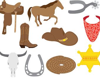 Cowboy clipart western theme #1