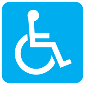 Blue Wheelchair Clip Art