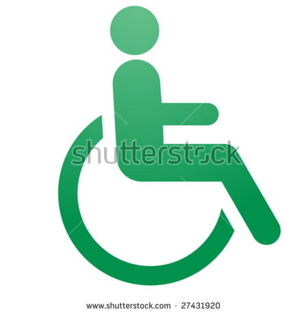 Handicap symbol illustration icon of wheelchair clipart