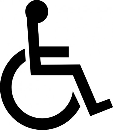 Wheelchair Symbol clip art Free vector in Open office drawing svg