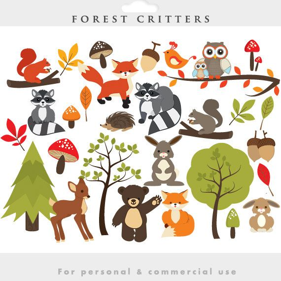 whimsical forest clip art | Woodland clipart - forest clip art, cute, whimsical,