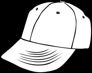 White Baseball Cap Clipart #1