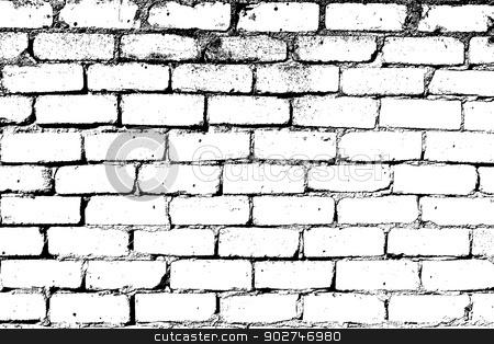 White Brick Wall Stock Vector Clipart Brick Wall Overlay Texture