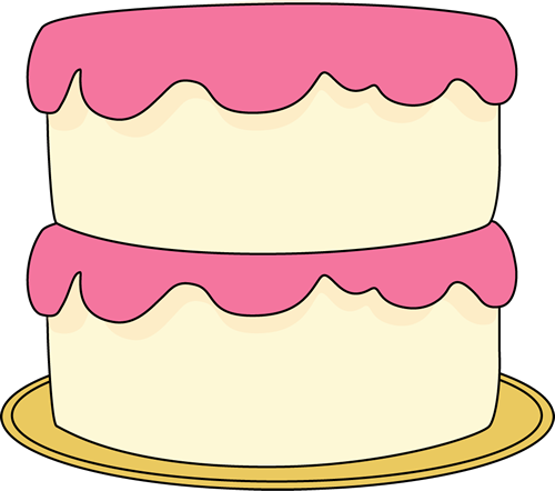 White Cake with Pink Frosting