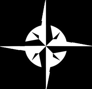 White Compass Rose clip art - vector clip art online, royalty free .