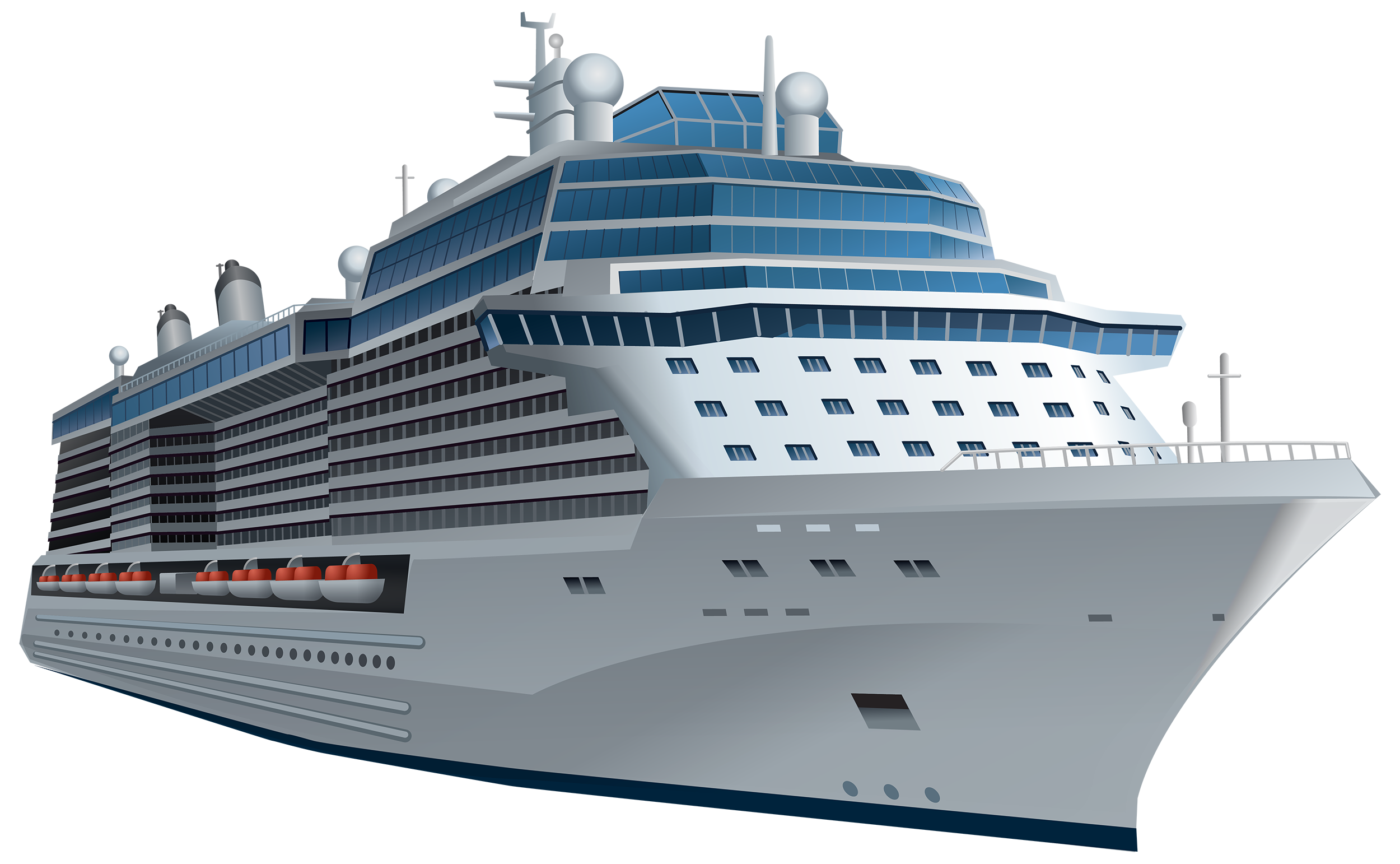 White Cruise Ship PNG Clipart