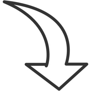 White Curved Arrow clip art .