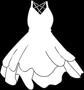 White Dress Clip Art At Clker Com Vector Clip Art Online Royalty