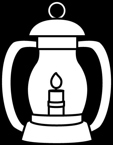 White Lantern Clip Art Image Black And White Lantern With A Flame