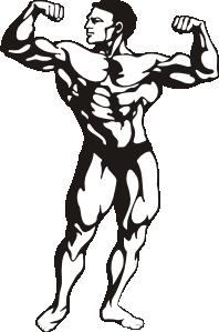 white muscle man clip art .